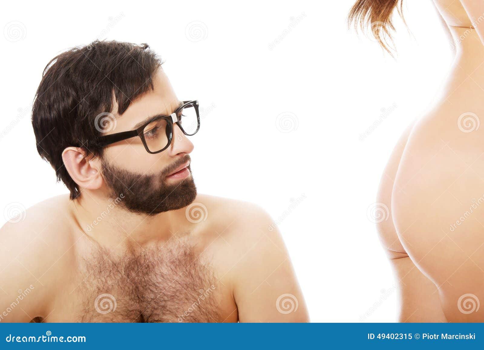 män nakna röv