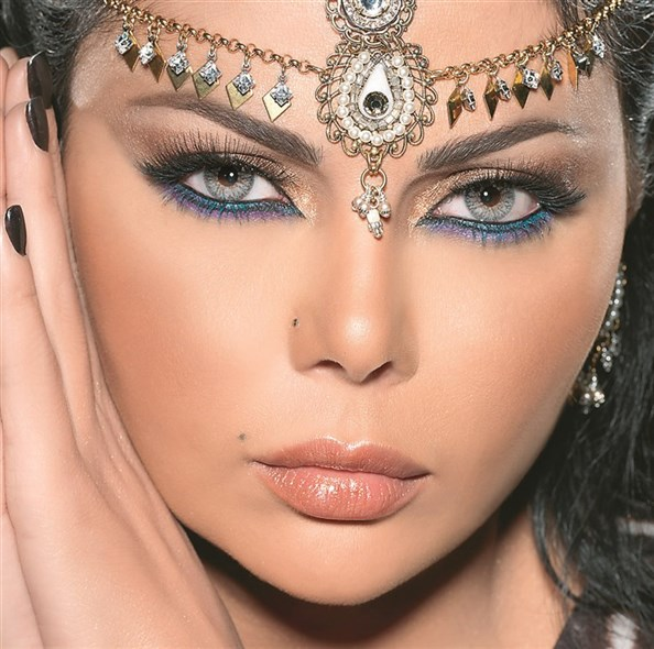 kvinna hårig arabisk