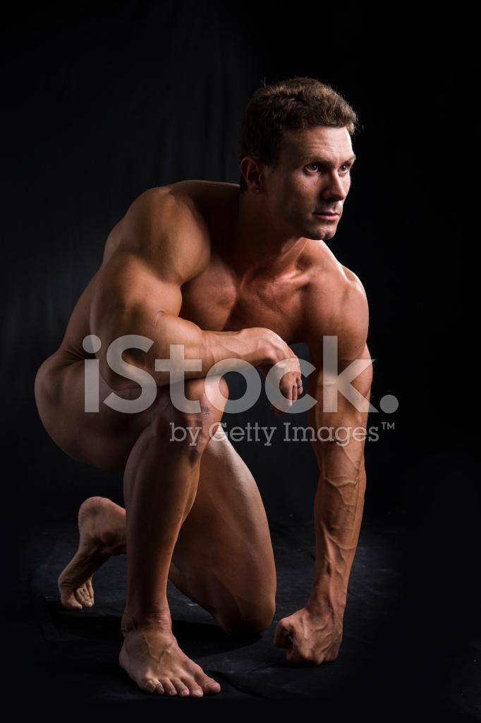 ung naken svart