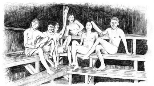 pojkar familjen nakna