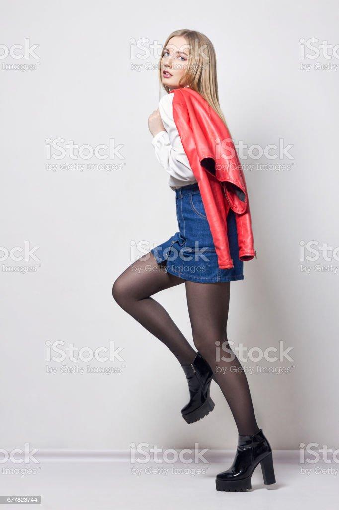 sexig tjej lång