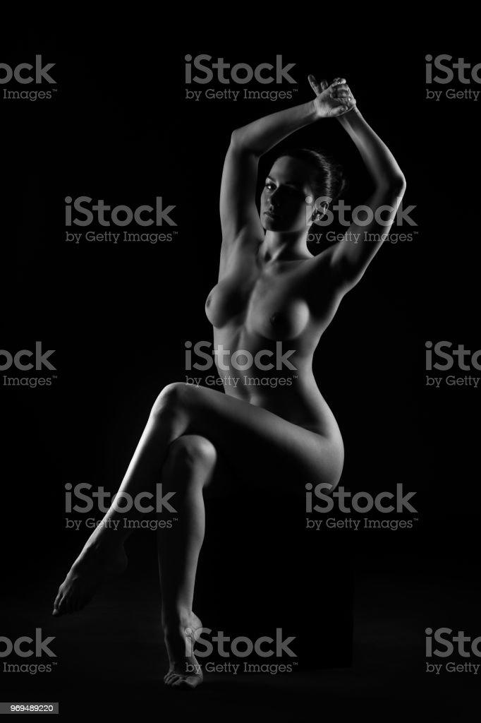 naken kropp svart